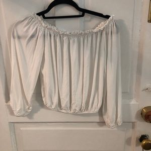 White off the shoulders long sleeve